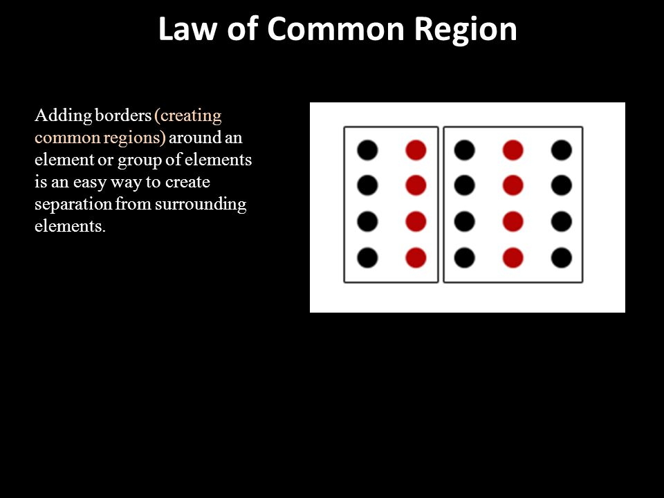 Law of Common Region
