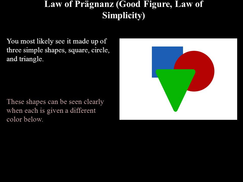 Law of Prägnanz (Good Figure, Law of Simplicity)