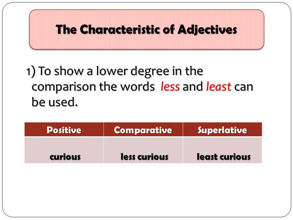 The Characteristic of Adjectives