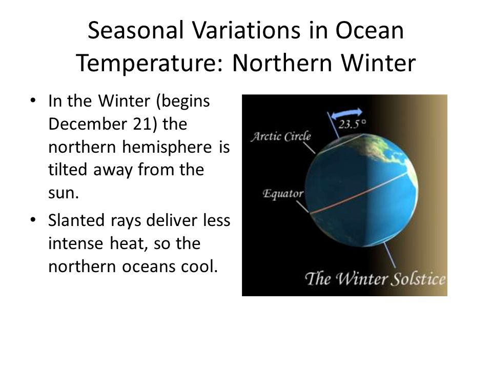 Seasonal Variations in Ocean Temperature: Northern Winter