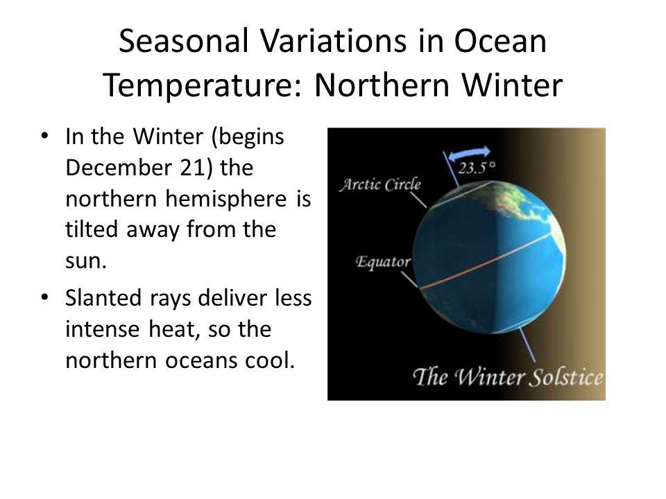 Seasonal Variations in Ocean Temperature: Northern Winter