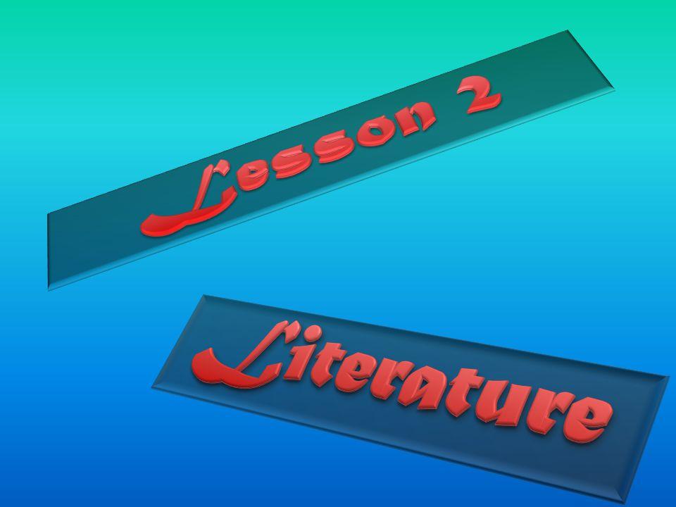 Lesson 2 Literature