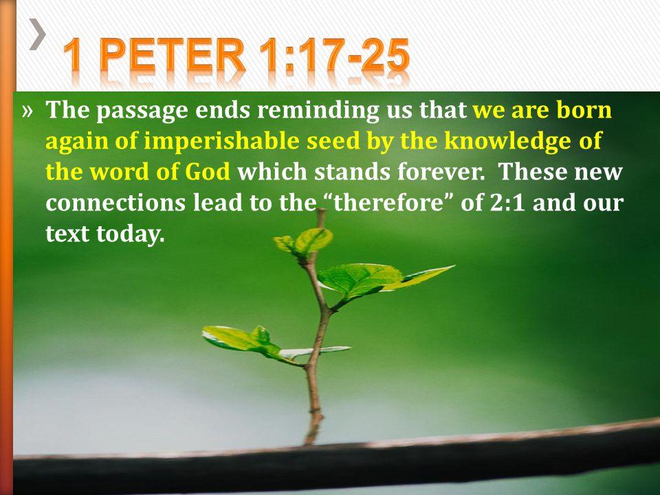 1 Peter 1:17-25