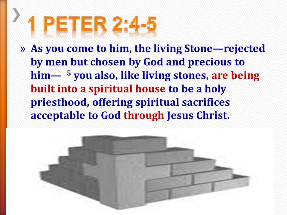 1 Peter 2:4-5
