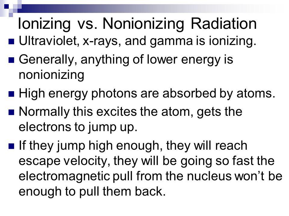 Ionizing vs. Nonionizing Radiation