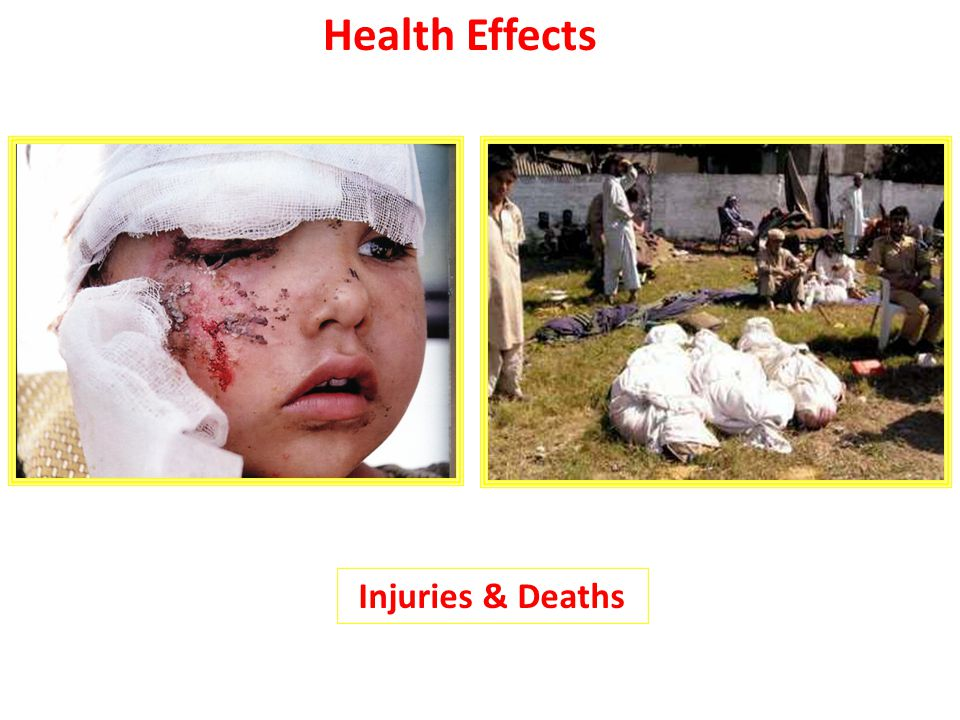 Health Effects Injuries & Deaths