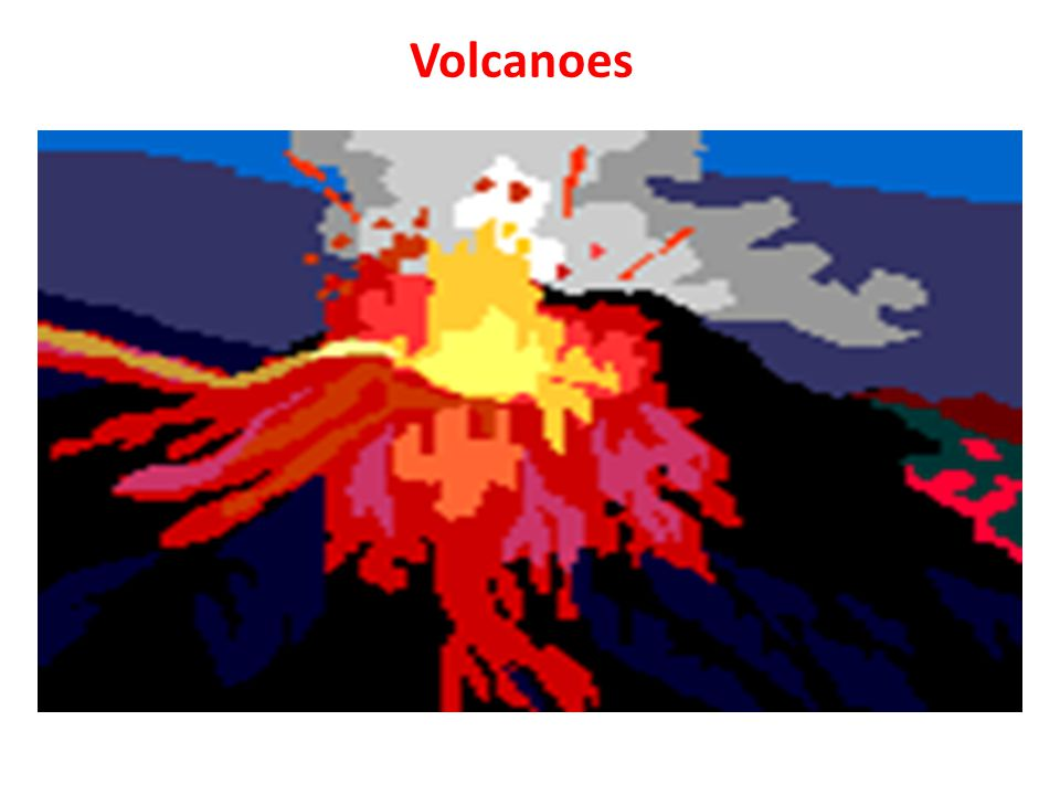 Volcanoes A volcanic eruption is the spurting out of gases and hot lava from an opening in the Earth's crust.