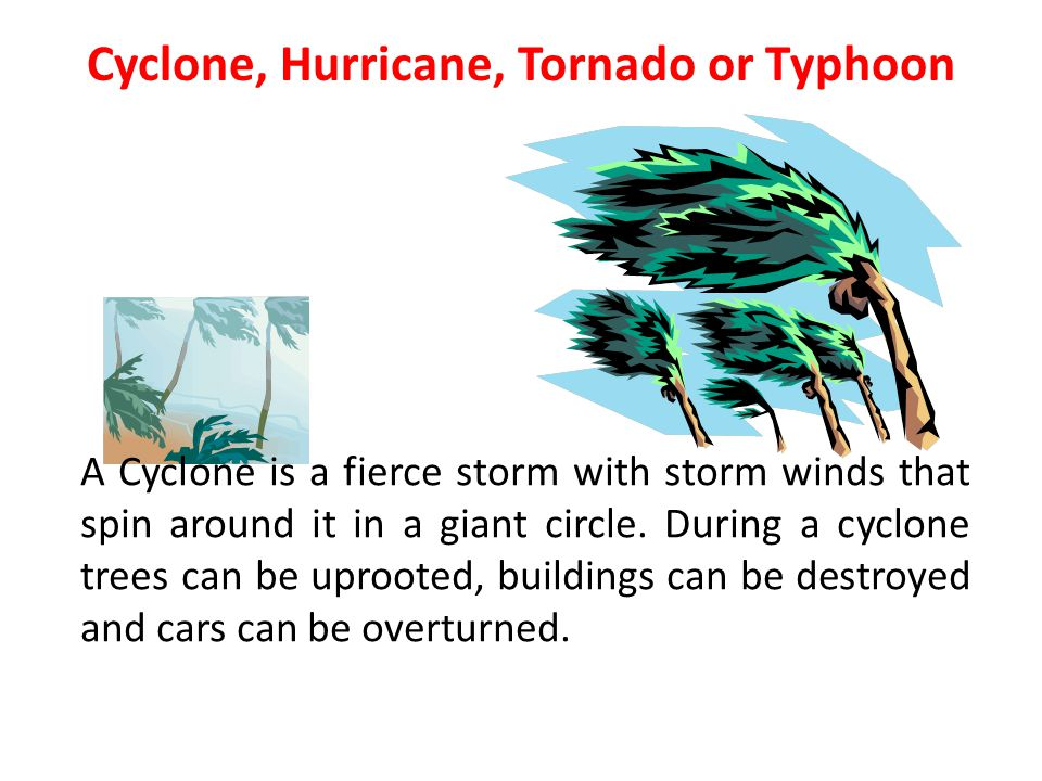 Cyclone, Hurricane, Tornado or Typhoon