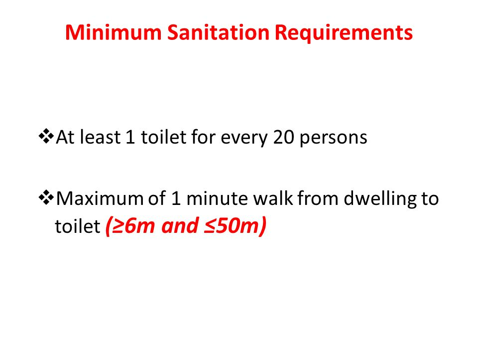 Minimum Sanitation Requirements