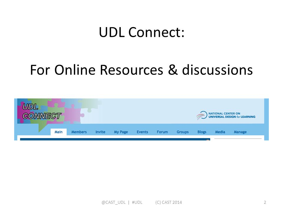 UDL Connect: For Online Resources & discussions