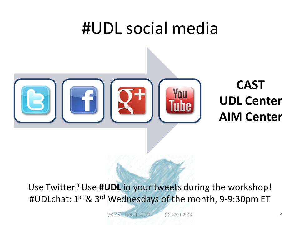 #UDL social media CAST UDL Center AIM Center