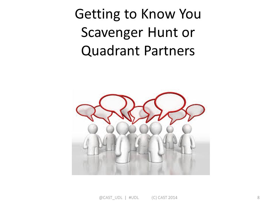 Getting to Know You Scavenger Hunt or Quadrant Partners
