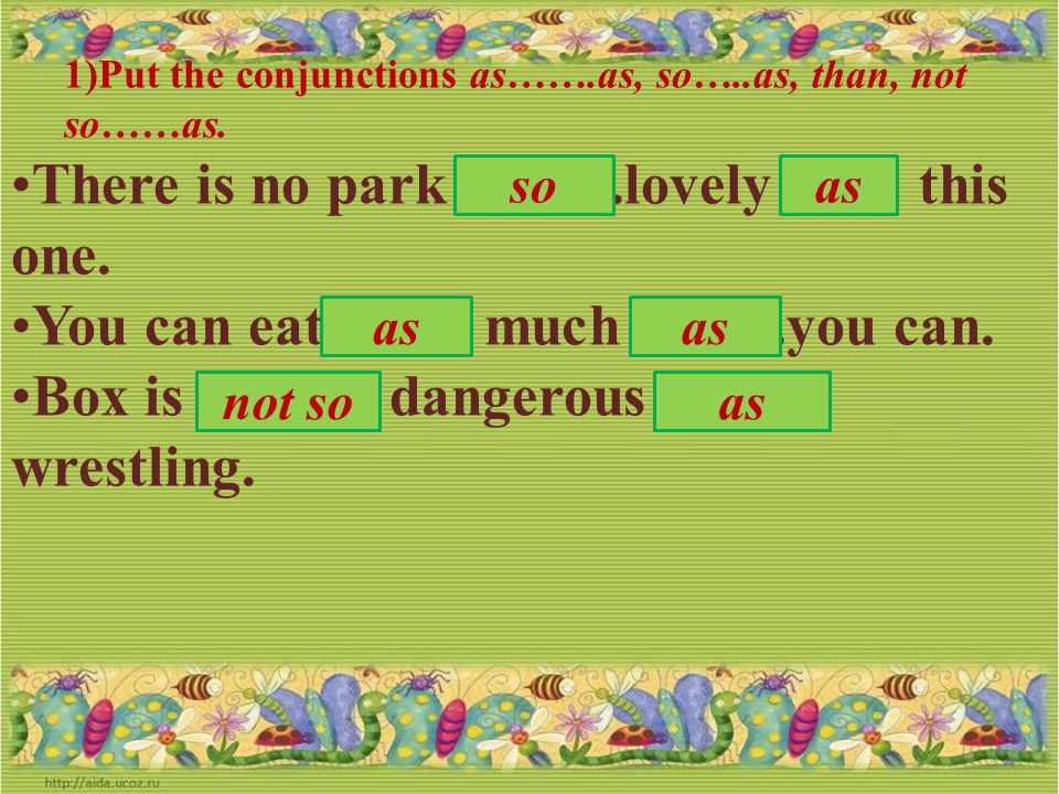 There is no park ……. .lovely …… this one.