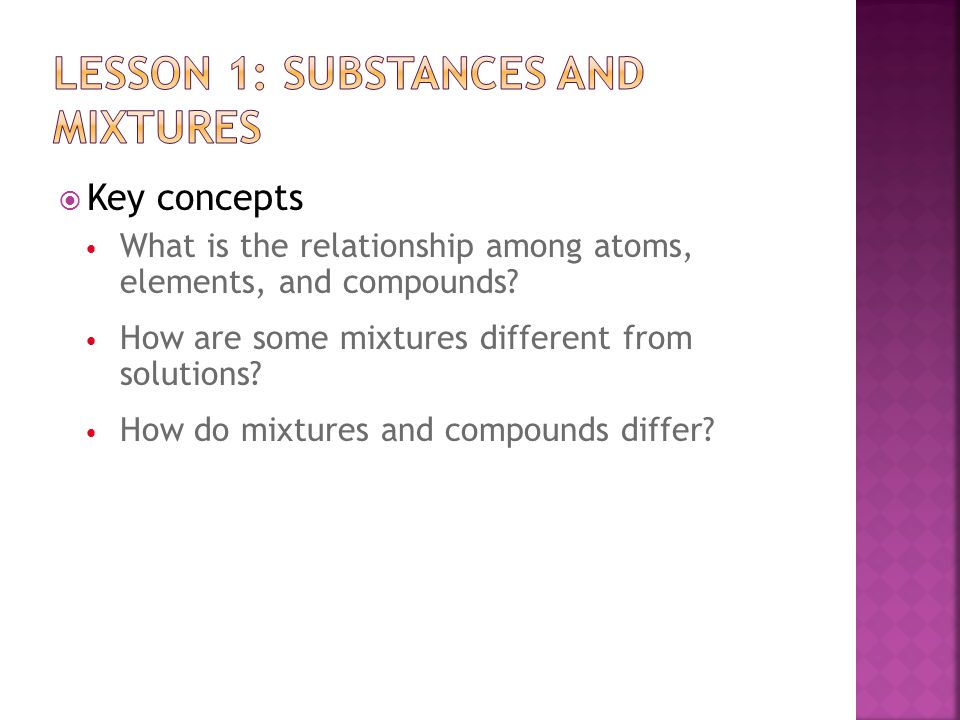 Lesson 1: Substances and Mixtures