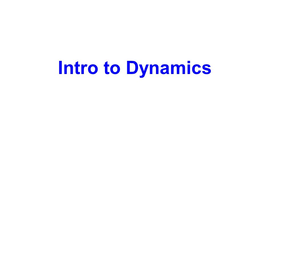 Intro to Dynamics
