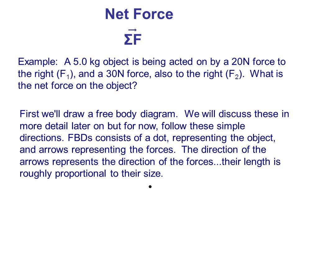 Net Force ΣF.