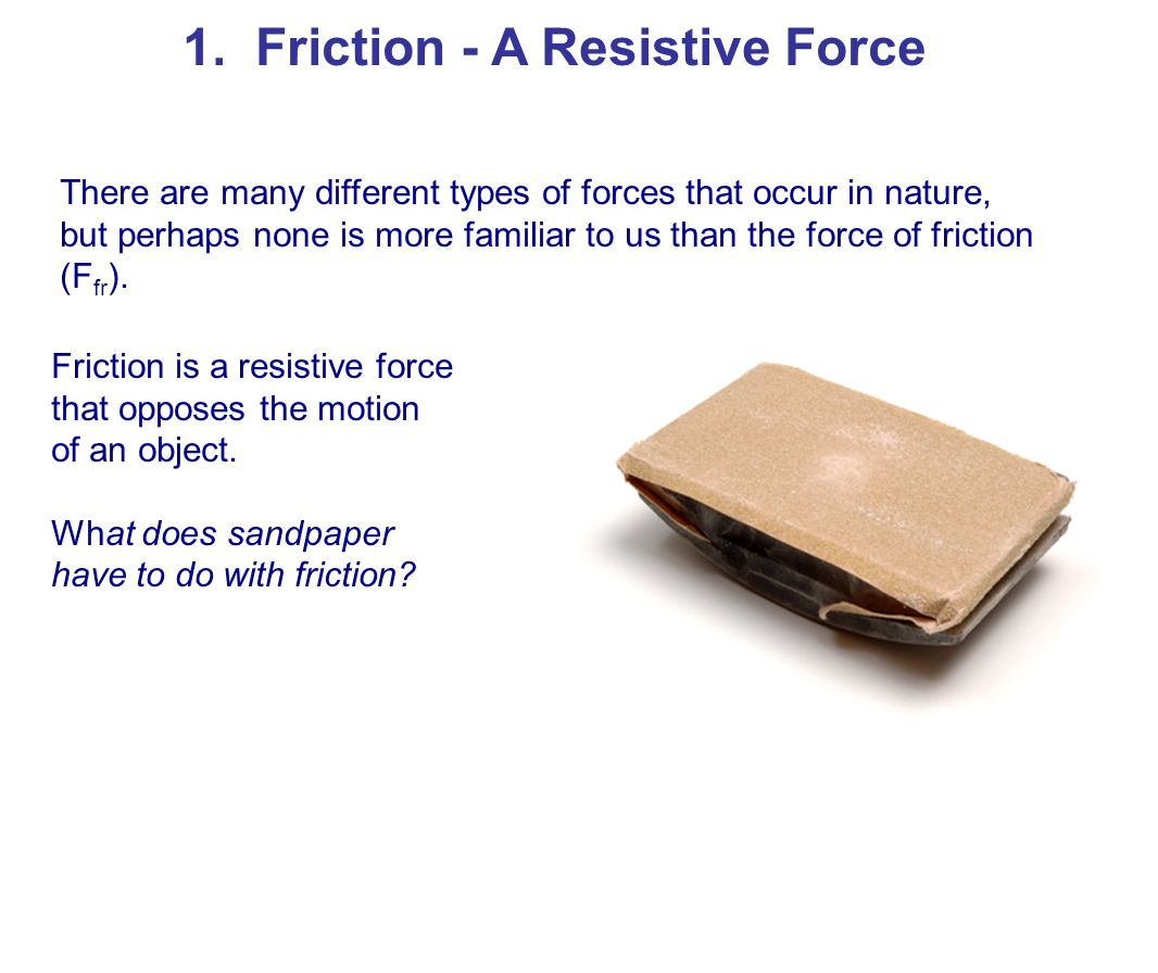 1. Friction - A Resistive Force