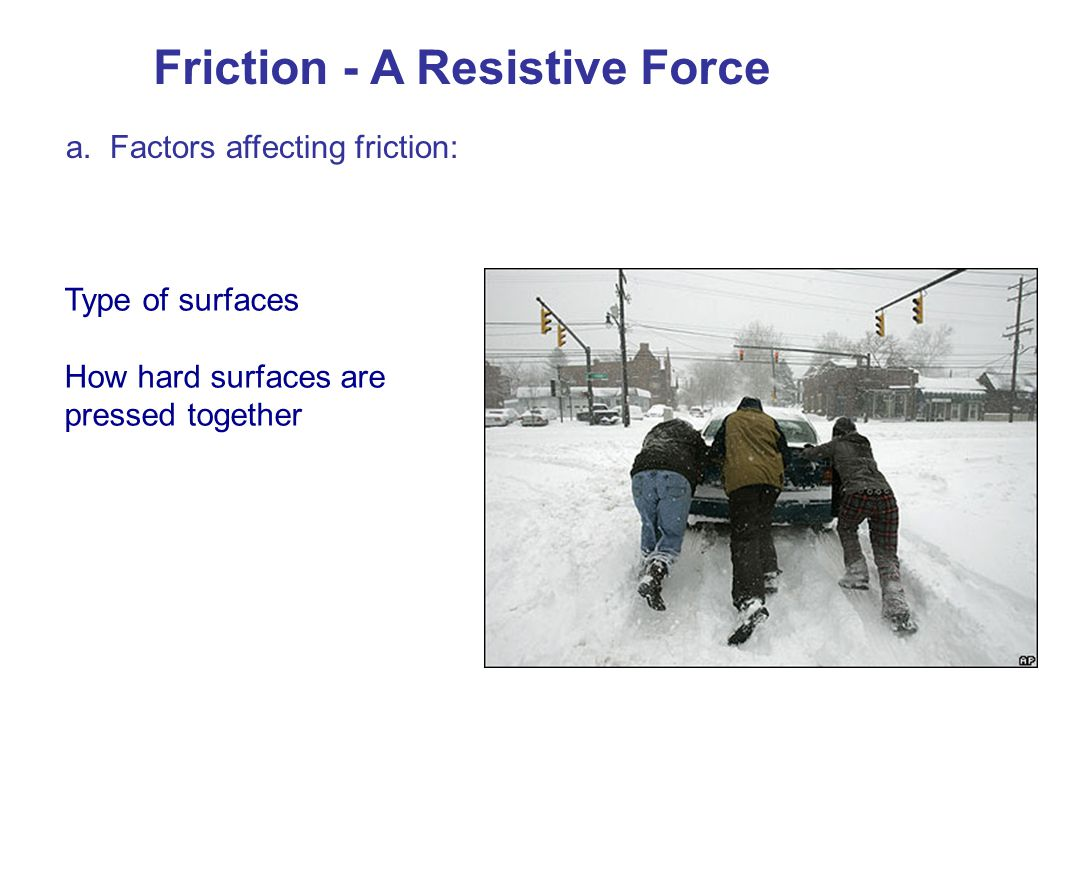Friction - A Resistive Force