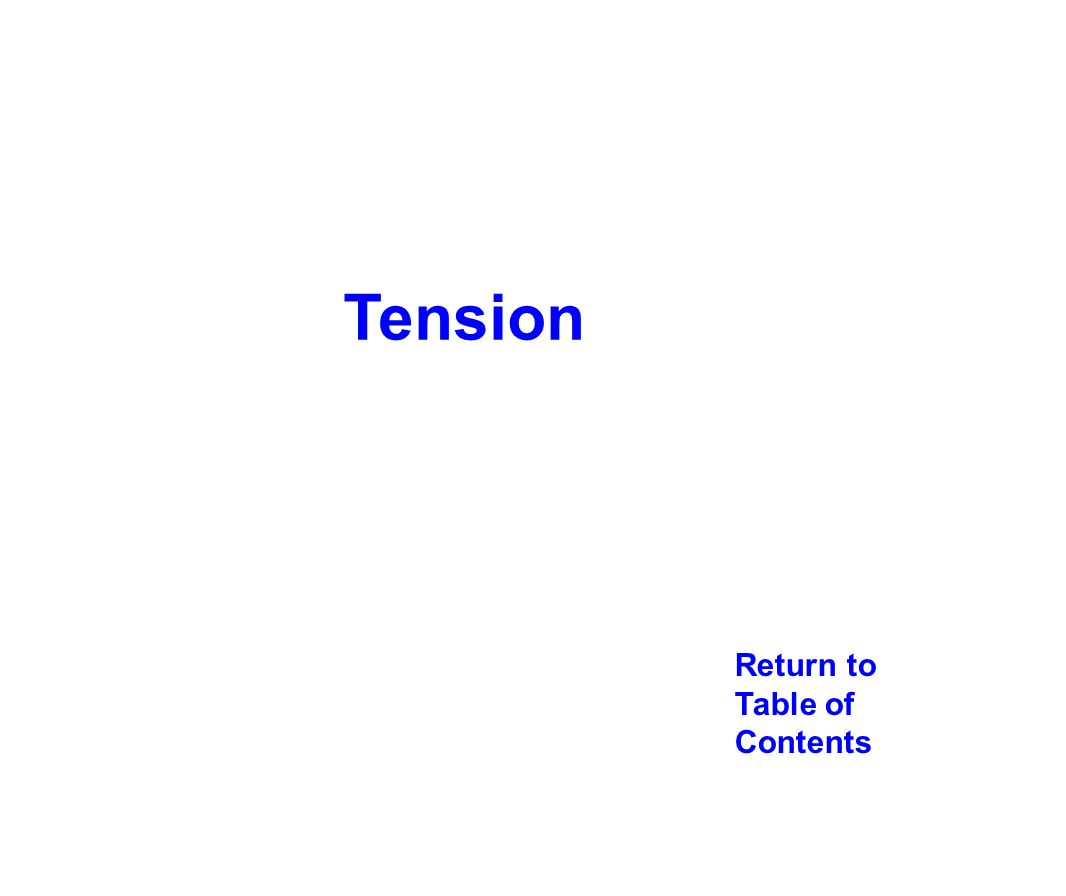 Tension Return to Table of Contents