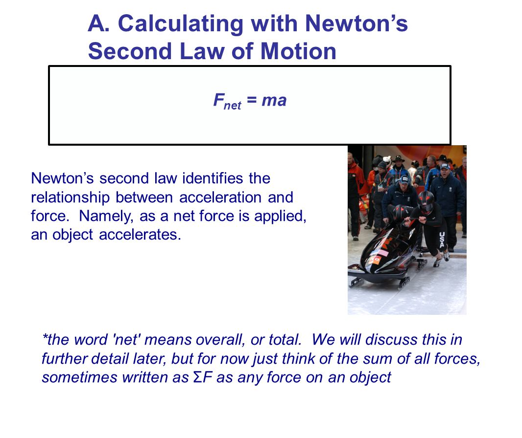 A. Calculating with Newton's Second Law of Motion