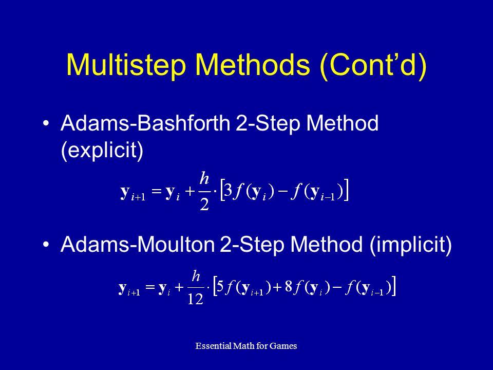 Multistep Methods (Cont'd)