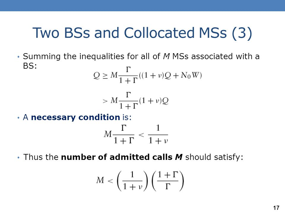 Two BSs and Collocated MSs (3)