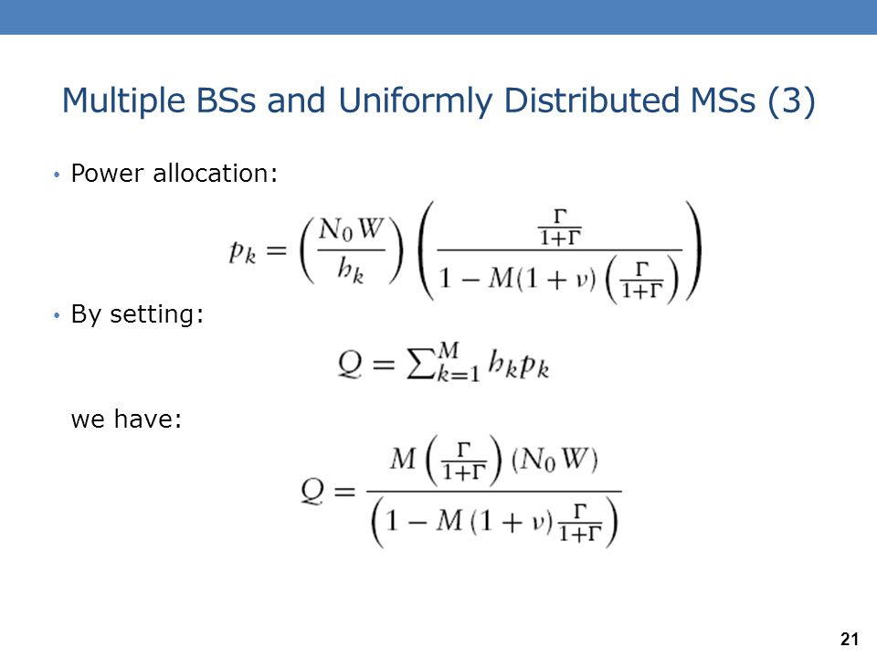 Multiple BSs and Uniformly Distributed MSs (3)
