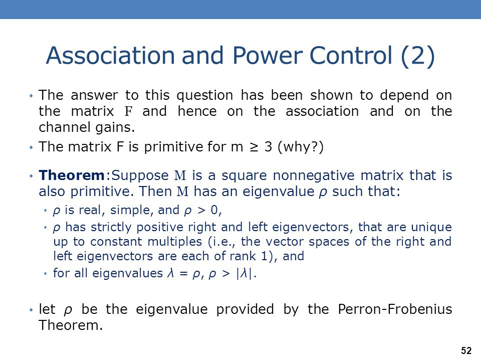 Association and Power Control (2)