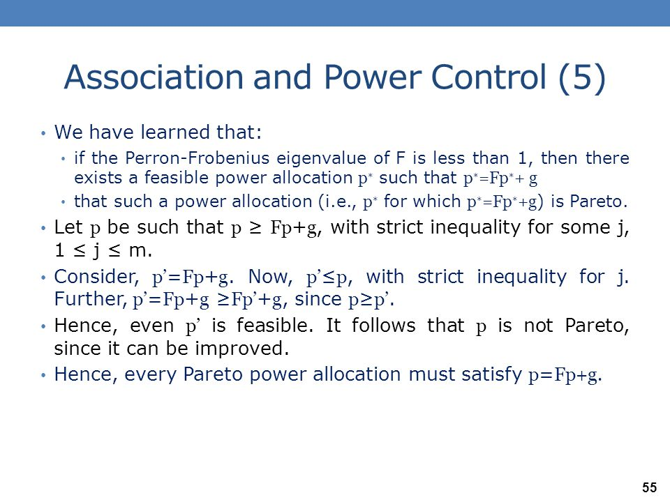 Association and Power Control (5)
