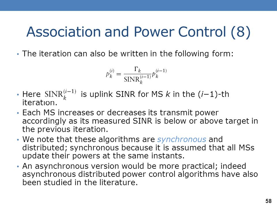 Association and Power Control (8)