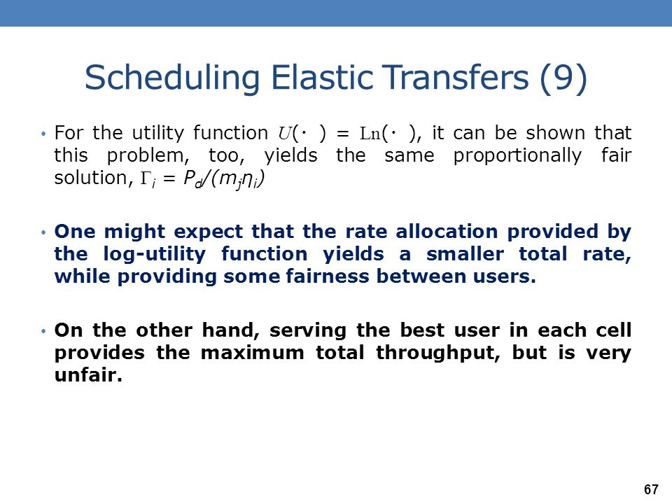 Scheduling Elastic Transfers (9)