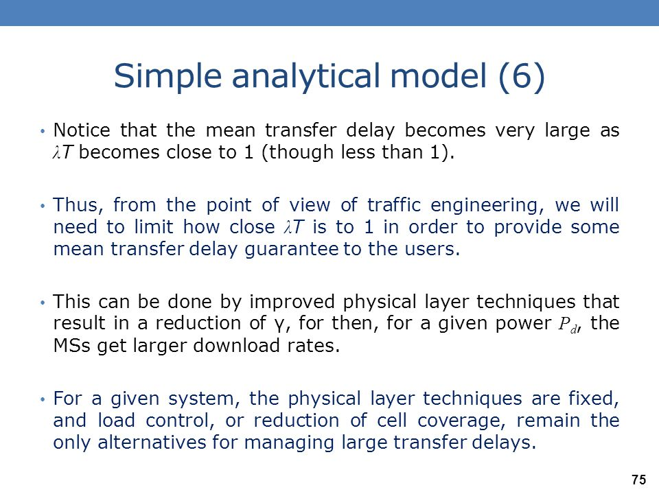 Simple analytical model (6)