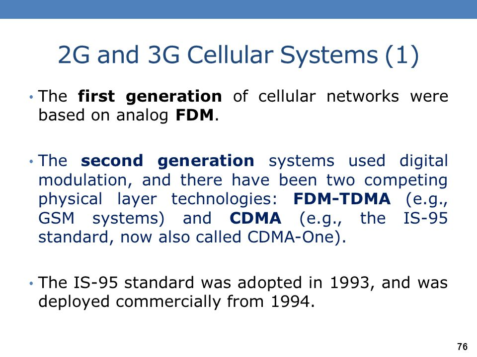 2G and 3G Cellular Systems (1)