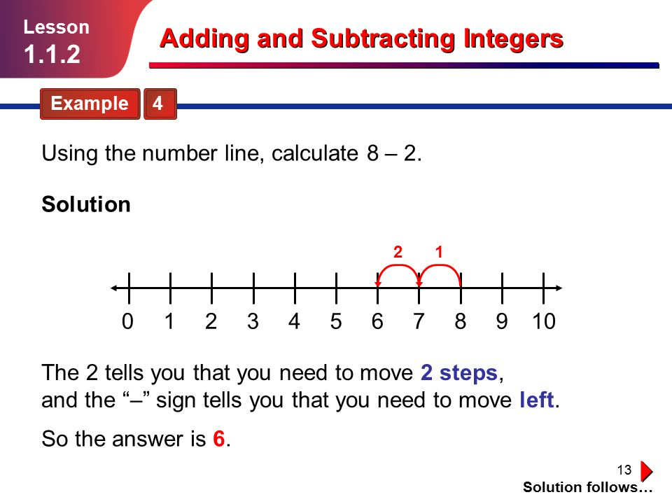 Adding and Subtracting Integers