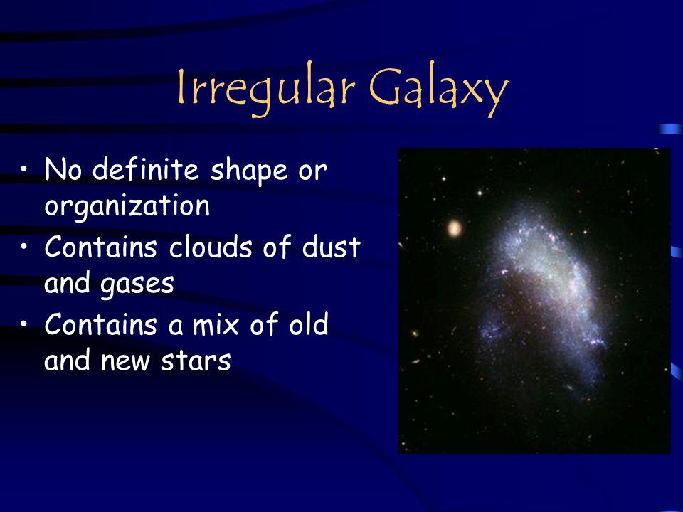 Irregular Galaxy No definite shape or organization