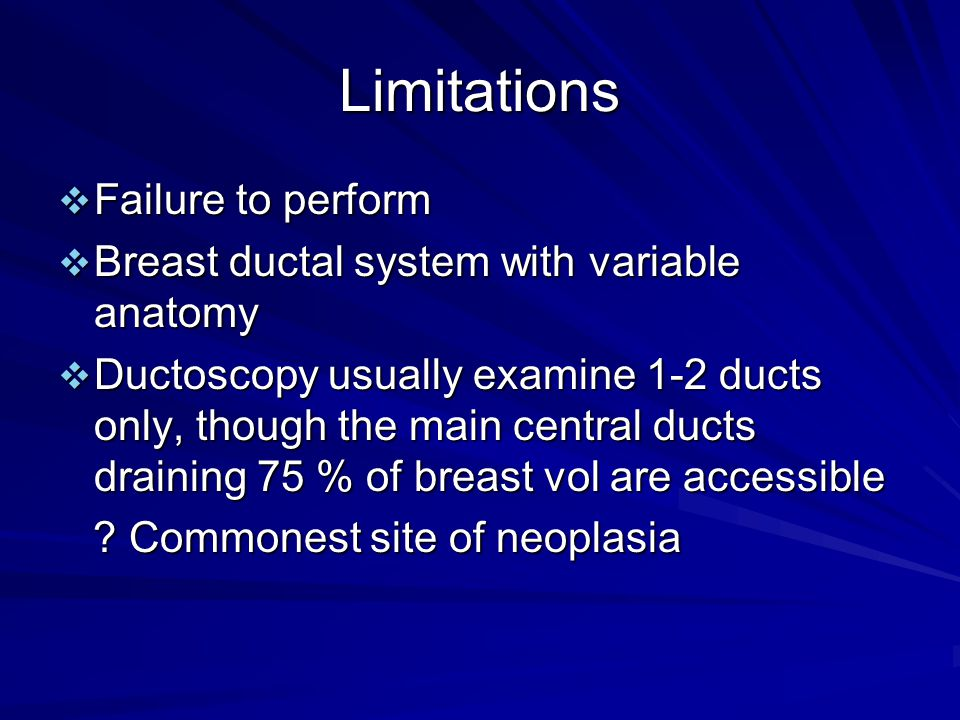 Limitations Failure to perform