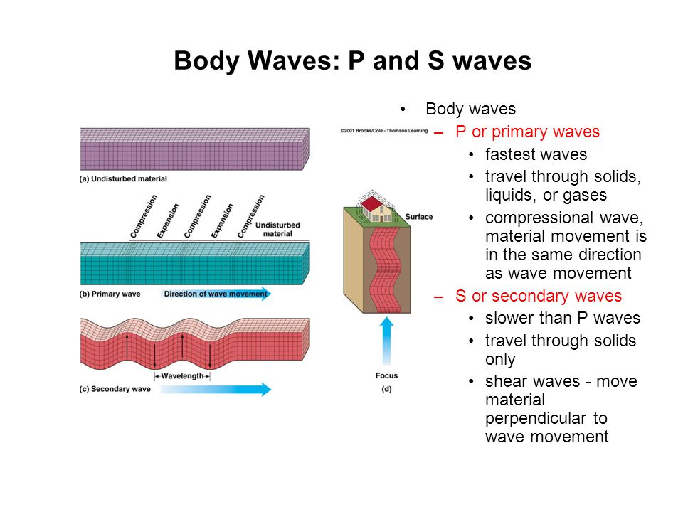 Body Waves: P and S waves