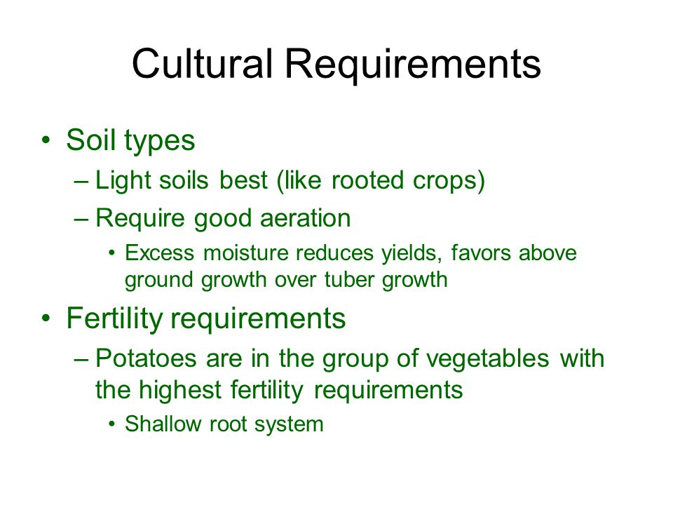 Cultural Requirements