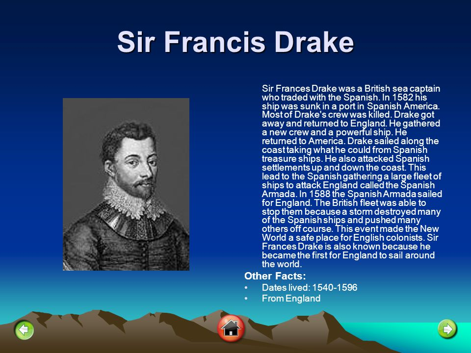 Sir Francis Drake Other Facts: