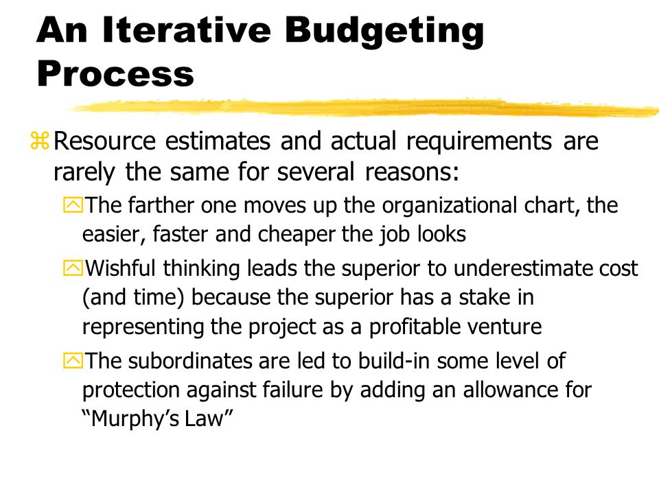 An Iterative Budgeting Process