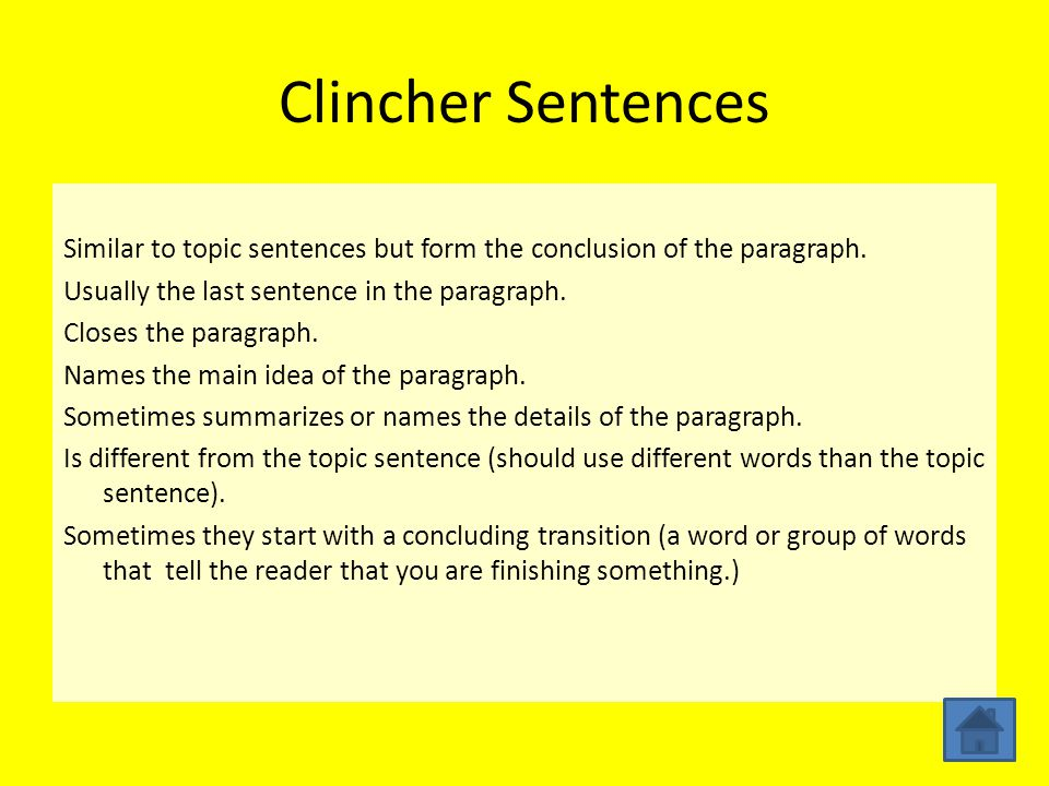A Simple Guide to Understanding the Clincher Sentence With Examples