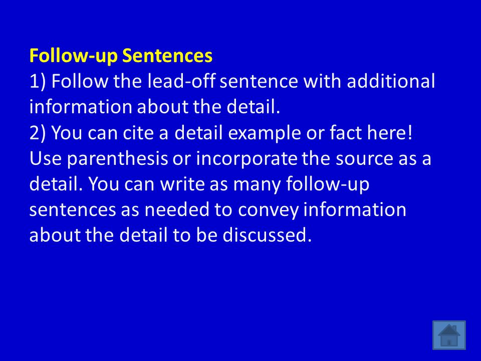 how to come up with a concluding sentence