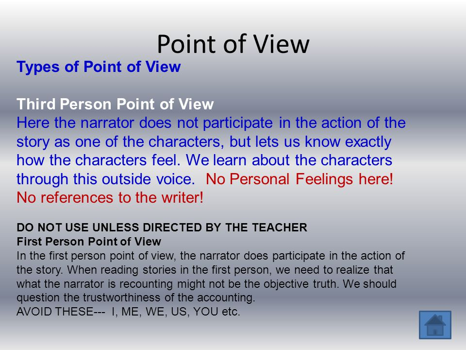 Point of View Types of Point of View