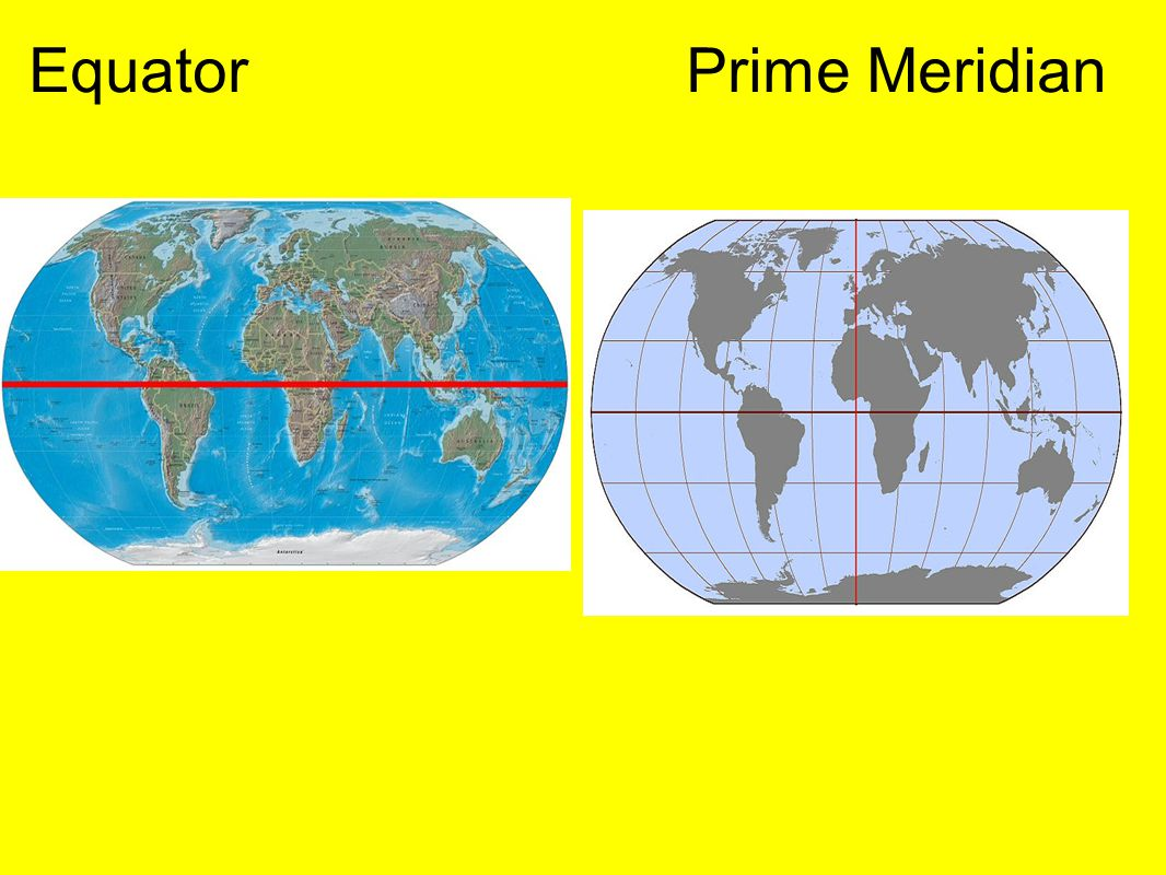 Map projections by mr melnick ppt download 4 equator prime meridian gumiabroncs Image collections