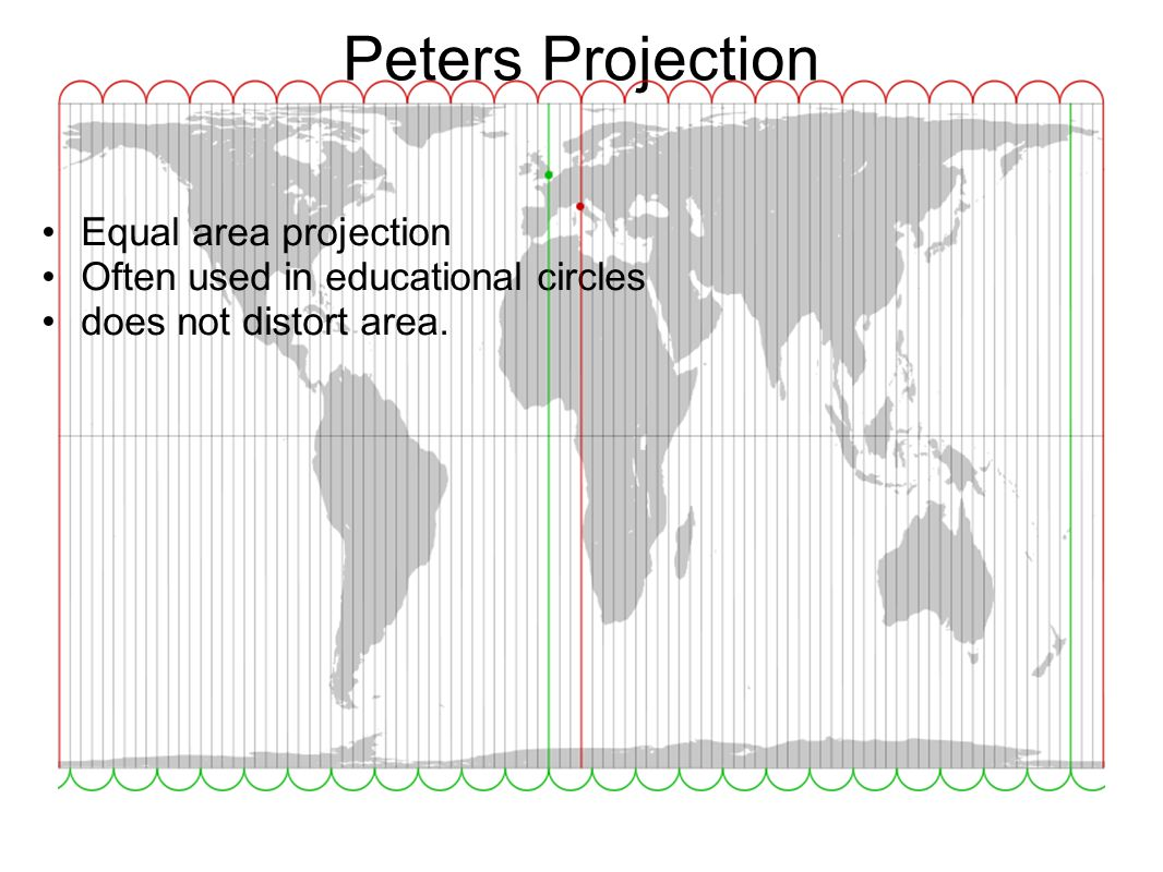Peters Projection Equal area projection