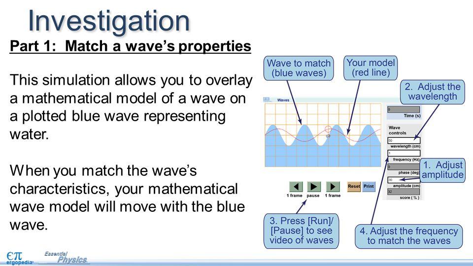 Investigation Part 1: Match a wave's properties