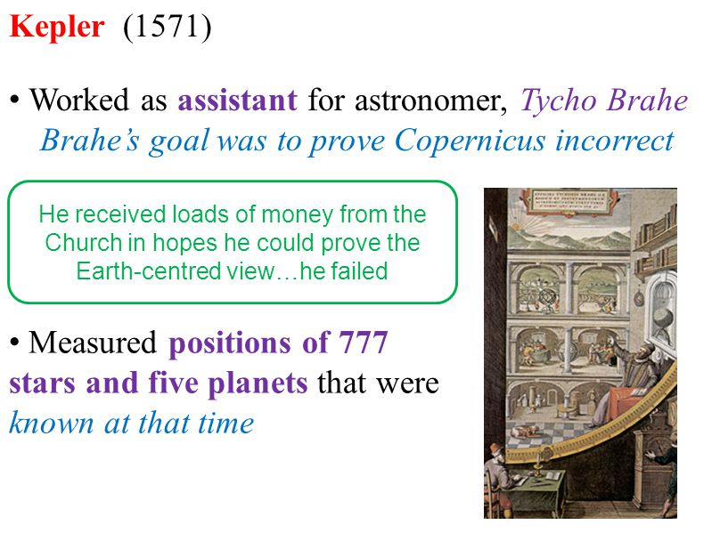 Brahe's goal was to prove Copernicus incorrect