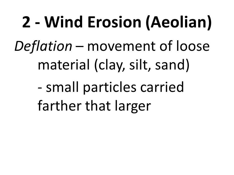 2 - Wind Erosion (Aeolian)