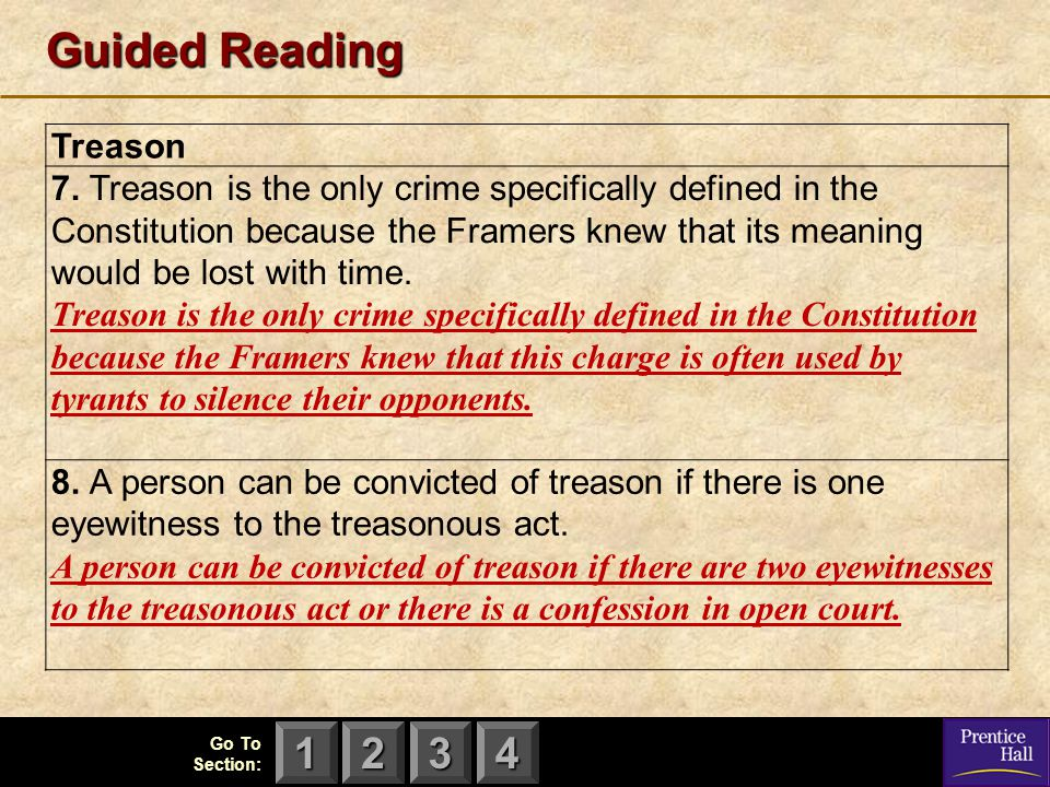 Guided Reading Treason