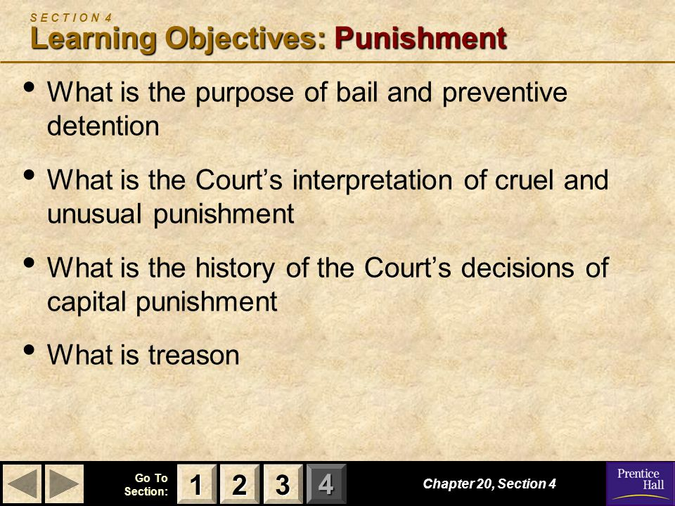 S E C T I O N 4 Learning Objectives: Punishment